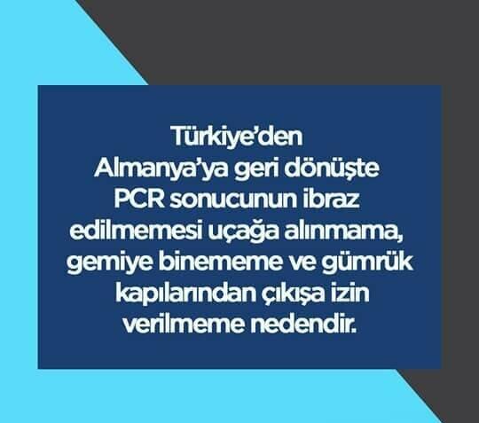 PCR testleri hakkında önemli duyuru…