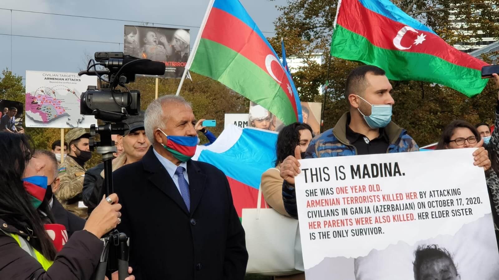 Ermenistan'ın saldırıları protesto edildi