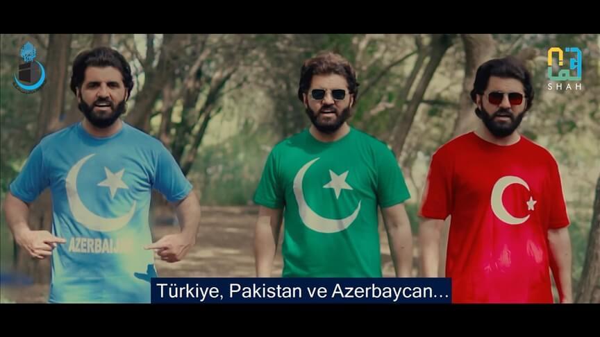 'Türkiye-Azerbaycan-Pakistan' arasındaki kültürel bağlara dikkati çekmek için şarkı besteledi